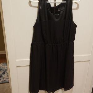 Lane Bryant black skater dress